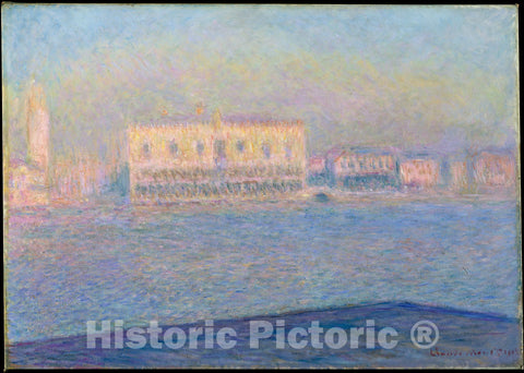 Art Print : Claude Monet - The Doge's Palace Seen from San Giorgio Maggiore : Vintage Wall Art