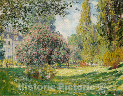 Art Print : Claude Monet - Landscape: The PARC Monceau : Vintage Wall Art