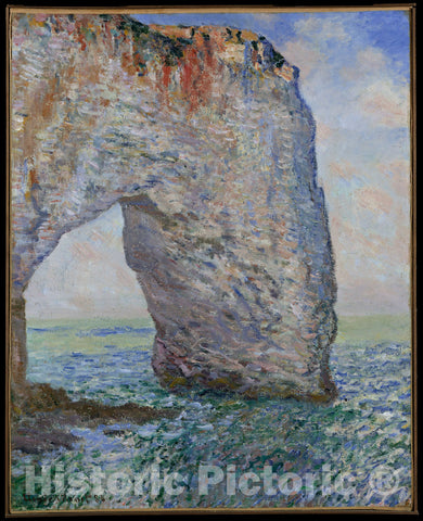 Art Print : Claude Monet - The Manneporte Near Étretat : Vintage Wall Art