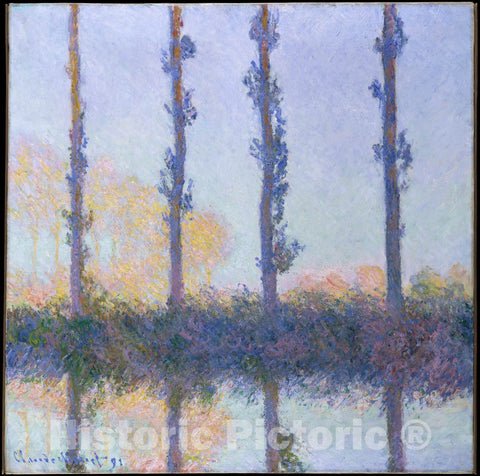 Art Print : Claude Monet - The Four Trees : Vintage Wall Art