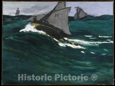 Art Print : Claude Monet - The Green Wave : Vintage Wall Art