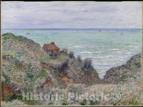 Art Print : Claude Monet - Cabin of The Customs Watch : Vintage Wall Art