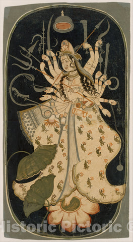 Art Print : Mahadevi, the Great Goddess : Vintage Wall Art
