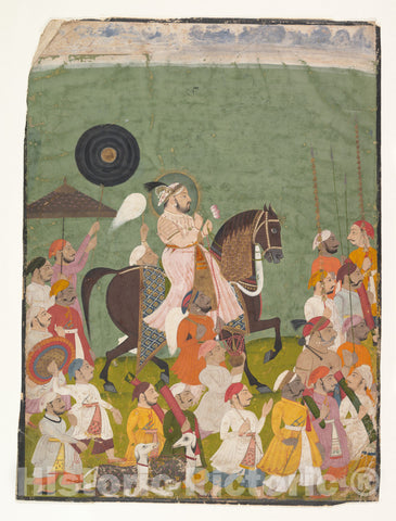Art Print : Maharana Jagat Singh II in Procession : Vintage Wall Art