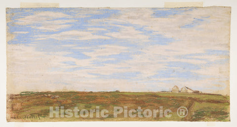 Art Print : Claude Monet - Landscape : Vintage Wall Art