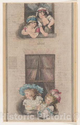 Art Print : Thomas Rowlandson - Maids and Mistresses : Vintage Wall Art