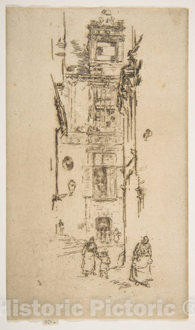 Art Print : James McNeill Whistler - Mairie, Loches : Vintage Wall Art