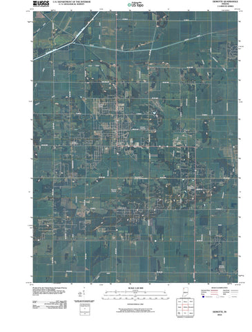 2010 DeMotte, in - Indiana - USGS Topographic Map