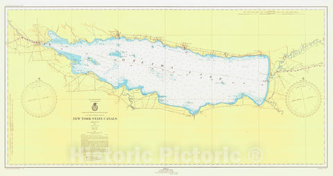 Historic Nautical Map - New York State Canals, 1946 NOAA Chart - Vintage Wall Art