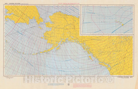 Historic Nautical Map - Isogonic Chart Of The United States Alaska And Hawaii, 1960 NOAA Magnetic Historic Nautical Map - Alaska, Hawaii (AK, HI) - Vintage Wall Art