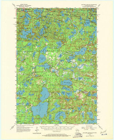 1955 Boulder Junction, WI - Wisconsin - USGS Topographic Map
