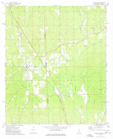 1974 State Line, MS - Mississippi - USGS Topographic Map