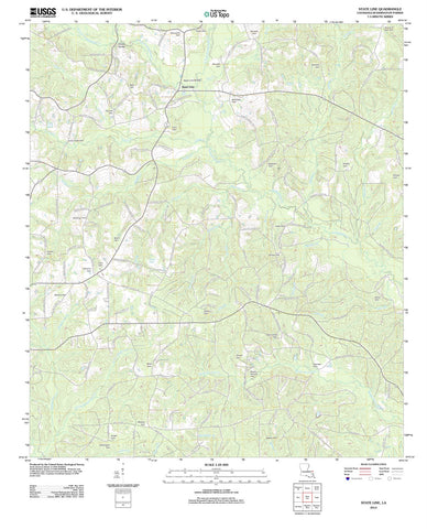 2012 State Line, LA - Louisiana - USGS Topographic Map