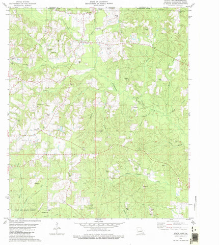 1982 State Line, LA - Louisiana - USGS Topographic Map