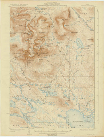 1930 Katahdin, ME - Maine - USGS Topographic Map