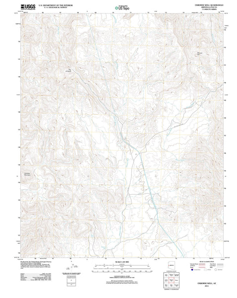 2011 Osborne Well, AZ - Arizona - USGS Topographic Map
