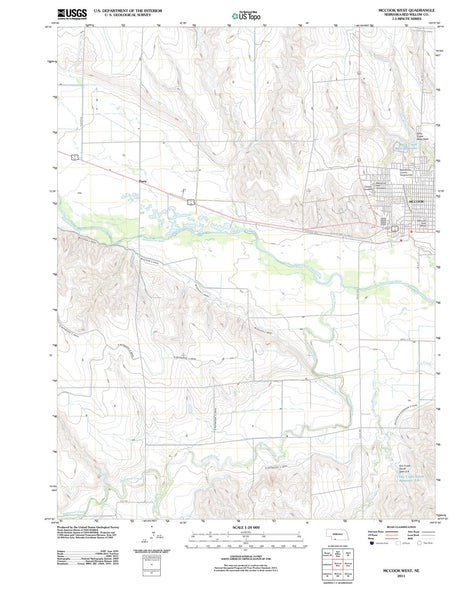 2011 McCook West, NE - Nebraska - USGS Topographic Map