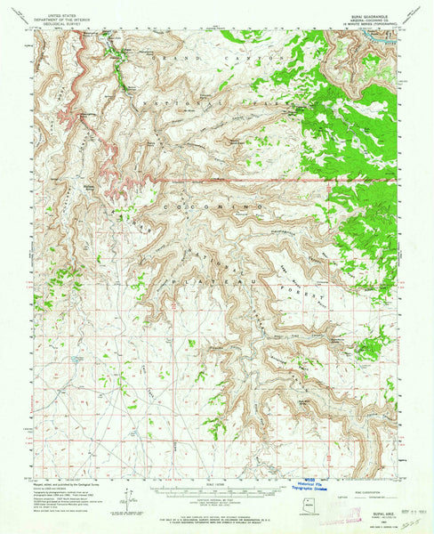 1962 Supai, AZ - Arizona - USGS Topographic Map