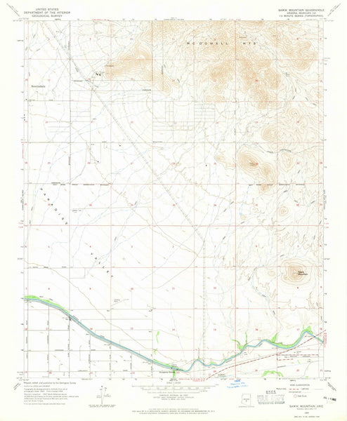 1964 Sawik Mountain, AZ - Arizona - USGS Topographic Map