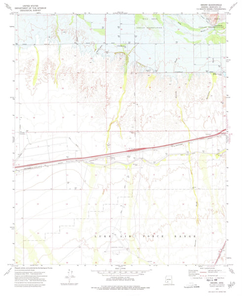 1973 Smurr, AZ - Arizona - USGS Topographic Map