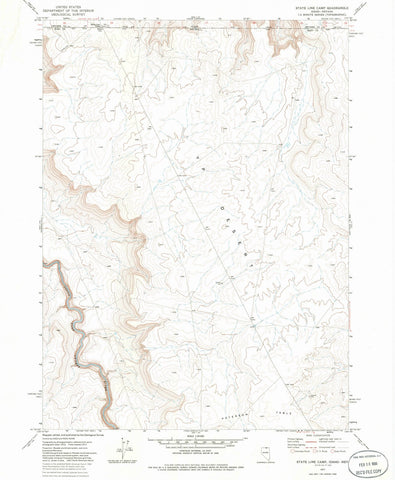 1977 State Line Camp, ID - Idaho - USGS Topographic Map