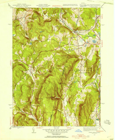 1944 State Line, MA - Massachusetts - USGS Topographic Map