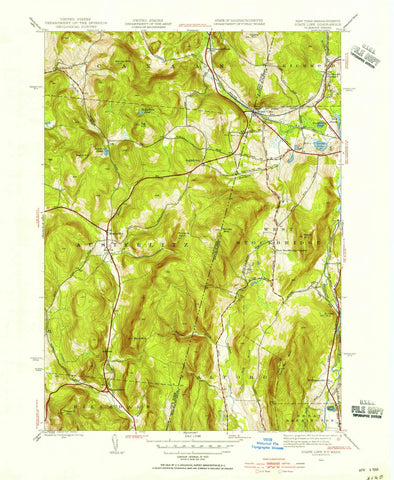 1944 State Line, MA - Massachusetts - USGS Topographic Map v2