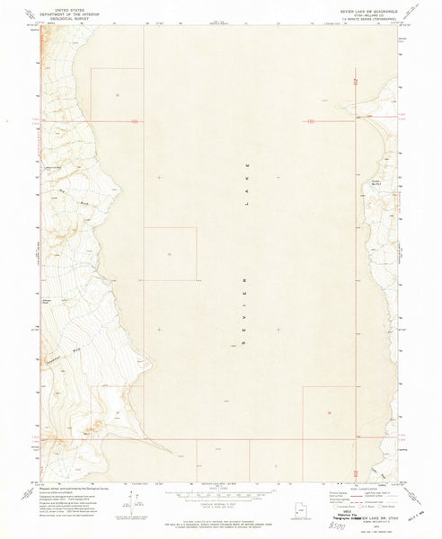1972 Sevier Lake, UT - Utah - USGS Topographic Map v2