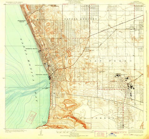 1924 Torrance, CA  - California - USGS Topographic Map