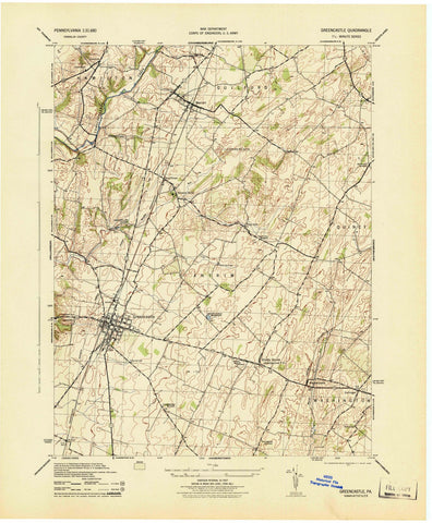 1944 Greencastle, PA - Pennsylvania - USGS Topographic Map v2