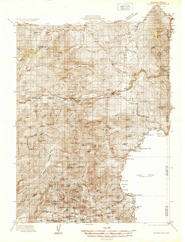 1932 Truckee, CA - California - USGS Topographic Map