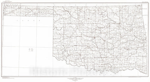 Historic Map : 1939 State of Oklahoma : Vintage Wall Art