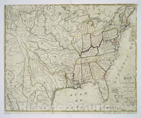 Historic 1818 Map - A Map Of The United States Including Louisiana - United States - United States - Maps Of North America. - Vintage Wall Art