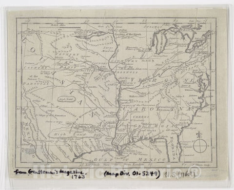 Historic 1763 Map - Map Of Spanish Louisiana And The American Colonies - United States - North Americamaps Of North America. - Vintage Wall Art