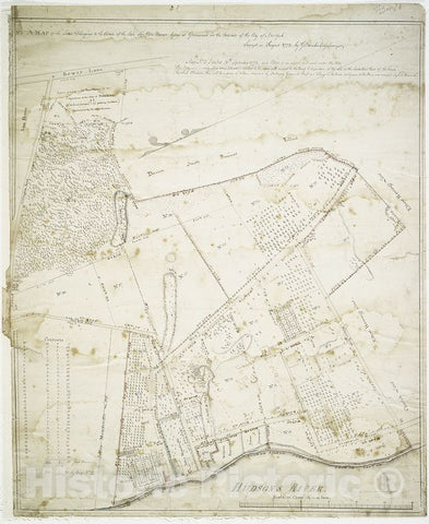 Historic Map - 1773 Greenwich Village, New York (N.Y.) No. 1 A Of The Lands Belonging To The Estate Of The Late Sir Peter Warren Lying At Greenwich In The Outward - Vintage Wall Art