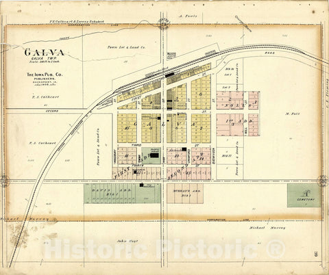Historic 1906 Map - Atlas of Ida County, Iowa : containing maps of Villages, Cities and townships of The County, maps of State, United States and World - Map of Blaine Township