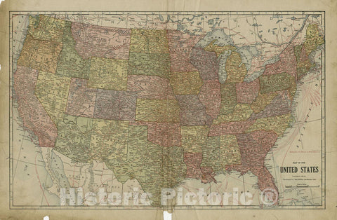 Historic 1915 Map - Atlas and plat Book of Holt County, Nebraska - Map of The United States - Standard Atlas and Directory of Holt County, Nebraska