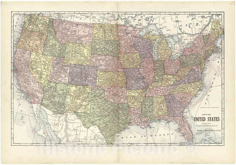 Historic 1914 Map - Atlas and plat Book of Jasper County, Iowa - Map of The United States - Standard Atlas and Directory of Jasper County, Iowa