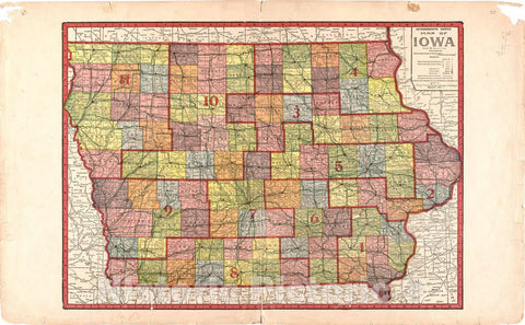 Historic 1921 Map - Atlas of Audubon County, Iowa : containing maps of townships of The County, maps of State, United States and World, Farmers Directory - Map of Iowa