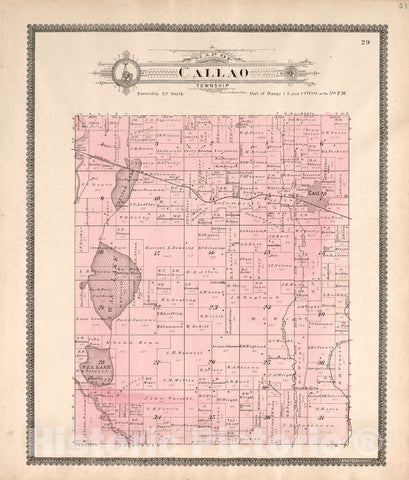 Historic 1897 Map - Standard Atlas of Macon County, Missouri : Including a plat Book of The Villages, Cities and townships of The County, map of The State - Narrows Township