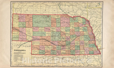 Historic 1904 Map - Standard Atlas of Hall County, Nebraska : Including a plat Book of The Villages, Cities and precincts of The County, map of The State - Mayfield