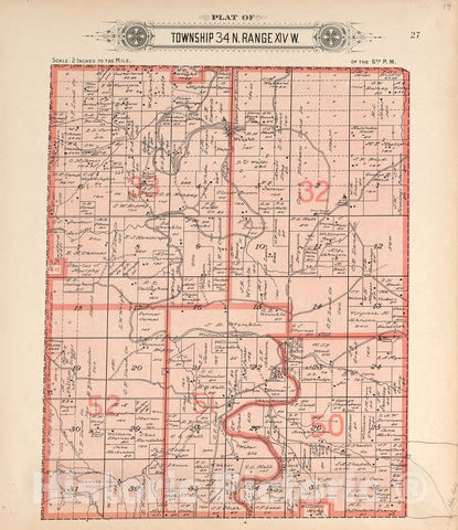 Historic 1912 Map - Plat Book of La Clede County, Missouri : containing maps of Villages, Cities and townships of The County, and of The State - North Part of City of Lebanon