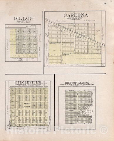 Historic 1929 Map - Standard Atlas of Tazewell County, Illinois : Including a plat Book of The Villages, Cities and townships of The County, map of The State - Fon du Lac