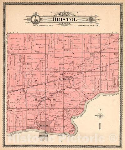 Historic 1903 Map - Standard Atlas of Kendall County, Illinois : Including a plat Book of The Villages, Cities and townships of The County, map of The State - The World