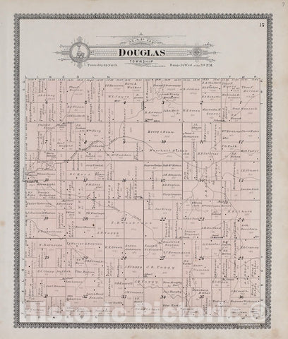 Historic 1900 Map - Standard Atlas of Audubon County, Iowa : Including a plat Book of The Villages, Cities and townships of The County, map of The State - Iowa