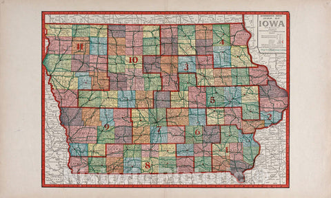 Historic 1917 Map - Atlas of Allamakee County, Iowa - Intermediate Series United States