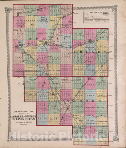 Historic 1870 Map - Atlas of Marshall Co. and The State of Illinois - Atlas of Illinois-Continued - Atlas of Marshall County and The State of Illinois 1
