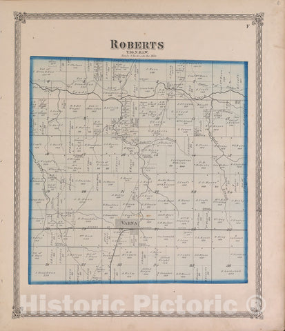 Historic 1870 Map - Atlas of Marshall Co. and The State of Illinois - Roberts - Atlas of Marshall County and The State of Illinois