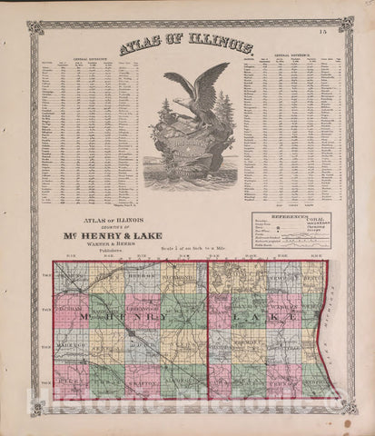 Historic 1870 Map - Atlas of Marshall Co. and The State of Illinois - Atlas of Illinois - Atlas of Marshall County and The State of Illinois
