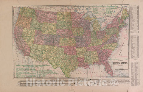 Historic 1917 Map - Atlas and plat Book of Guthrie County, Iowa - Map of The United States - Standard Atlas of Guthrie County, Iowa